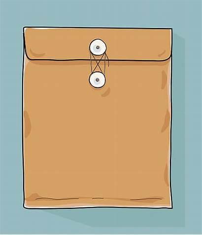 Envelope Clip Secret Vector Illustrations Hand Document