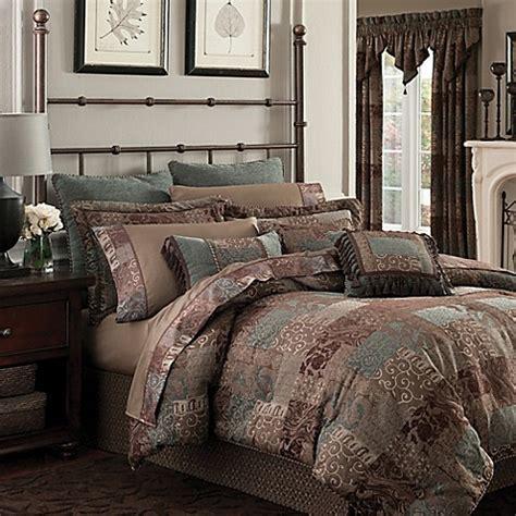 buy croscill 174 galleria california king comforter set in chocolate from bed bath beyond - Croscill Galleria Comforter Set King