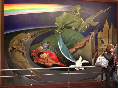 Denver Airport Murals Painted by Denver International Airport Bunker Are The Murals A