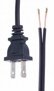 Black  18  2 Plastic Covered Lamp Cord Sets 46704