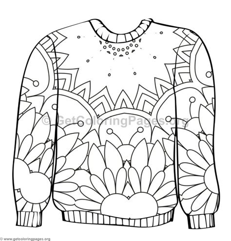 Ugly Sweater Coloring Pages #2 Getcoloringpagesorg