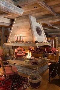 indoor pit rustic house log homes rustic living