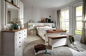 Massivholz Schlafzimmer Komplett Set Wei Gelaugt Landhausstil