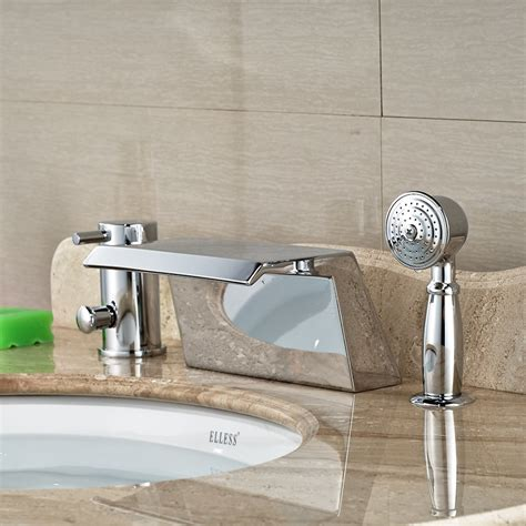 deck mount tub faucet with sprayer wholesale and retail promotion deck mounted chrome brass