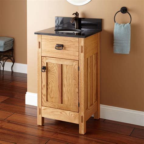 "19"" Mission Hardwood Vanity for Undermount Sink   Bathroom"