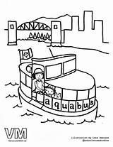 Gondola Vancouver Colouring Pages Drawing Aquabus Coloring Getdrawings sketch template