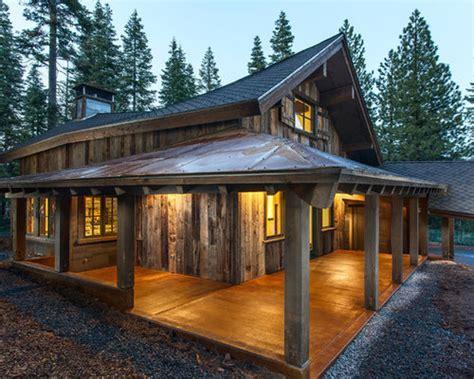 rustic wraparound porch houzz