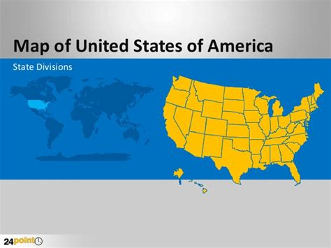 United states powerpoint template costumepartyrun how to use effective ppt template for usa map toneelgroepblik Choice Image
