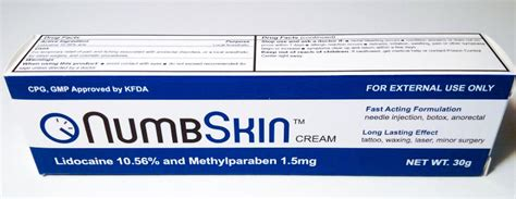 numbskin topical anesthetic cream  lidocaine review