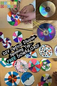Diy Optical Illusion Spinning Top