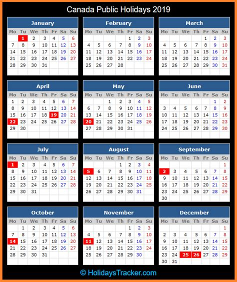 canada public holidays  holidays tracker