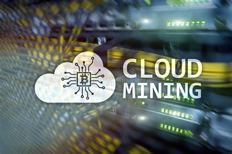 bitcoin cloud mining center cloud server and computing data storage and processing