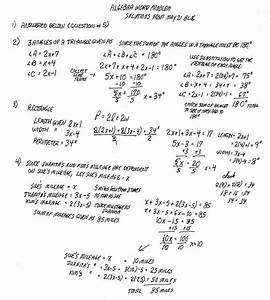 Cobb Adult Ed Math  Solutions To May 21st Algebra Word