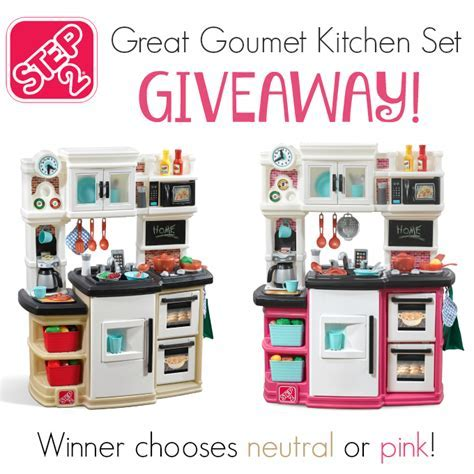 Step2 Great Gourmet Kitchen Set Giveaway   It's Free At Last