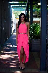 Pink Longer Lengths Dress Pink High Low Wrap Dress with