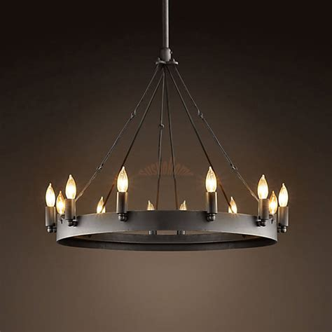 rustic chandelier lighting large rustic candle ceiling light iron chandelier