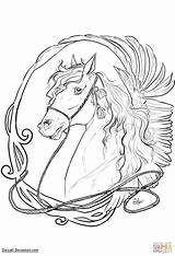 Coloring Nouveau Horse Pages Drawing Horses Mucha Alphonse Fruit Printable Line Arts sketch template