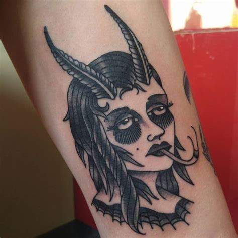 Satanic Tattoos  Scary Satanic Goat Tattoo Designs