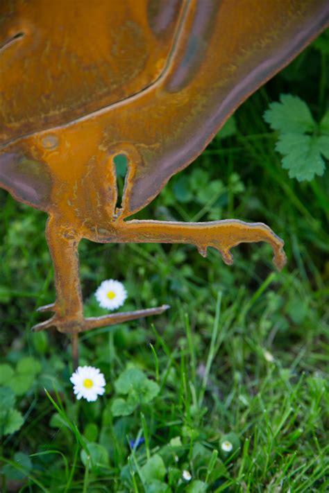 Gartendeko Hahn by Gartenstecker Hahn Edelrost