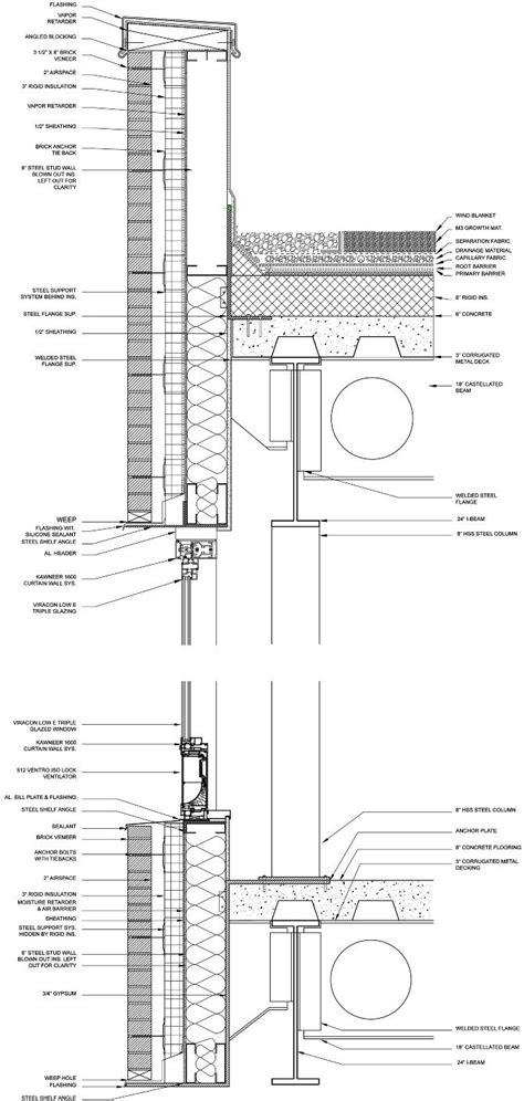 Perforated Drain Tile Sizes by Curtain Wall Detail Bing Images Architecture Details