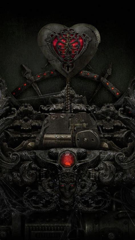 dark gothic hearts wallpaper