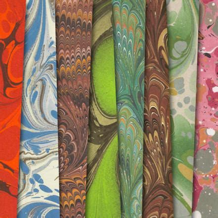 marbled endpaper gift wrap set    literary gift