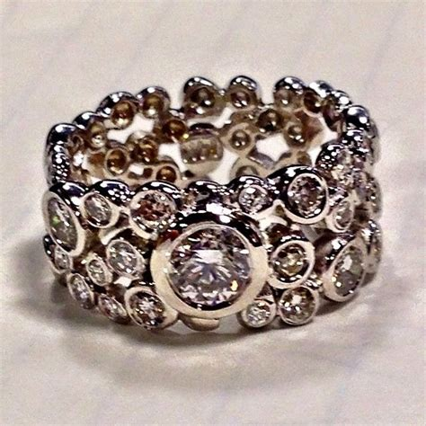 Hand Crafted Custommade Diamond Bubble Ring By The Bridal. Two Band Engagement Rings. Weddingbee Wedding Rings. Male Female Engagement Rings. Nordic Engagement Rings. Husband Wedding Rings. Hand Me Down Engagement Rings. Always And Forever Engagement Rings. Plant Wedding Rings