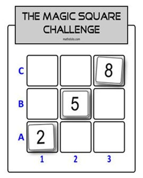 adding square magic square challenge adding a bit of team spirit to a maths problem solving activity the
