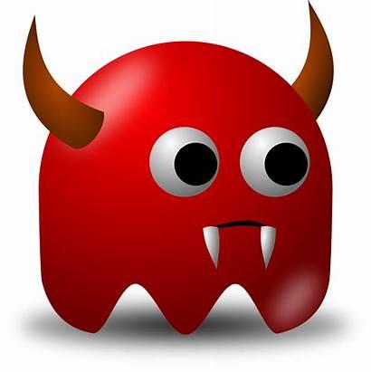 Devil Horns Clipart Avatar Fangs Character Vector