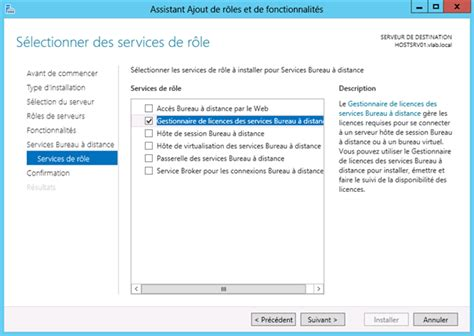 service bureau à distance windows server 2012 remote desktop service