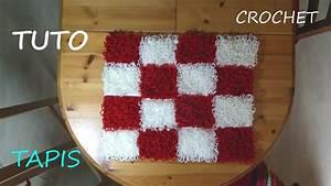 Tapis En Crochet : tuto crochet comment faire un tapis youtube ~ Teatrodelosmanantiales.com Idées de Décoration