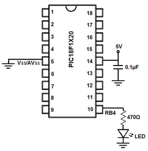 Pic Blinking Led Circuit