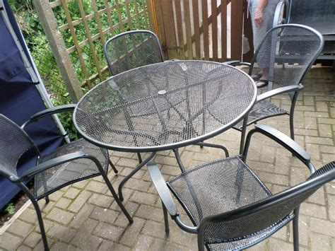 Metal Patio Table And Chairs by Metal Garden Patio Table And 4 Chairs Note