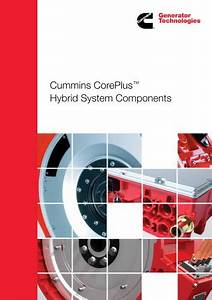 Cummins Coreplustm Motor Generator