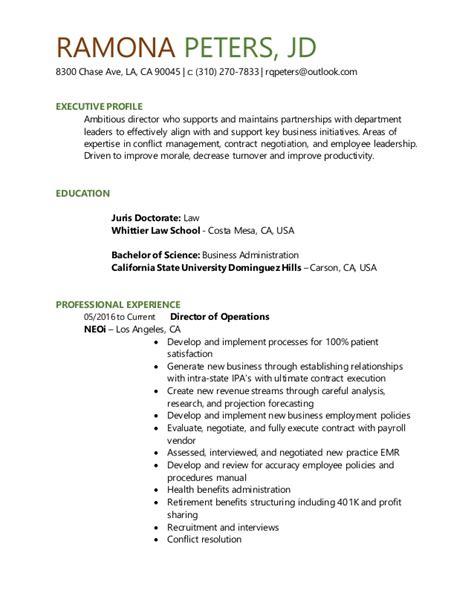 Jd Resume by Ramona Peters Jd Director Resume