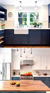 25 gorgeous paint colors for kitchen cabinets and beyond for Kitchen colors with white cabinets with out door wall art