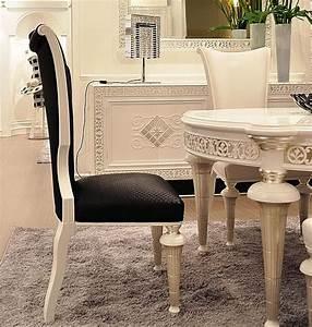 Sedia in legno laccato e ecopelle, classica di lusso IDFdesign