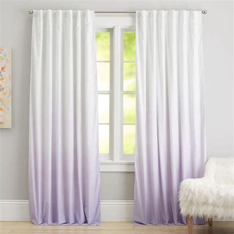 ombre blackout drape light turquoise lavender