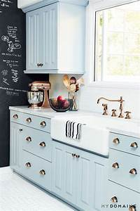 23 gorgeous blue kitchen cabinet ideas With best brand of paint for kitchen cabinets with wall art vintage