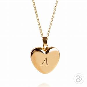 engraved 9ct gold large heart locket chain letters a z With gold lockets with letters