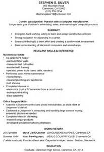 stock person resume template functional resume sles