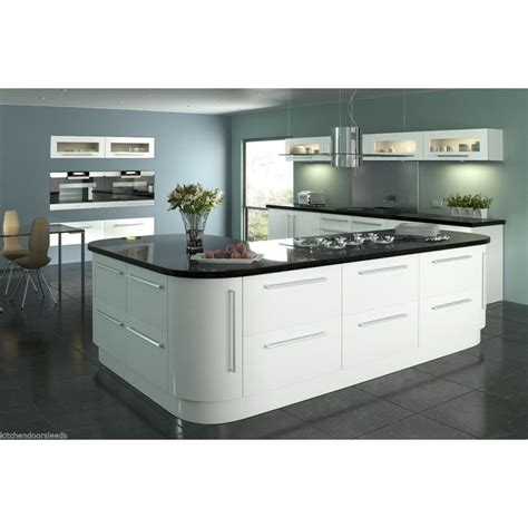 white gloss kitchen cabinet doors lumi white gloss vinyl wrapped replacement kitchen cabinet 1772