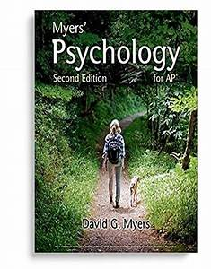 Myers U2019 Psychology For Ap U00ae Second Edition By David G  Myers