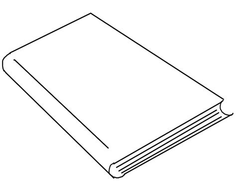 thin book template book cover template for kids clipart best