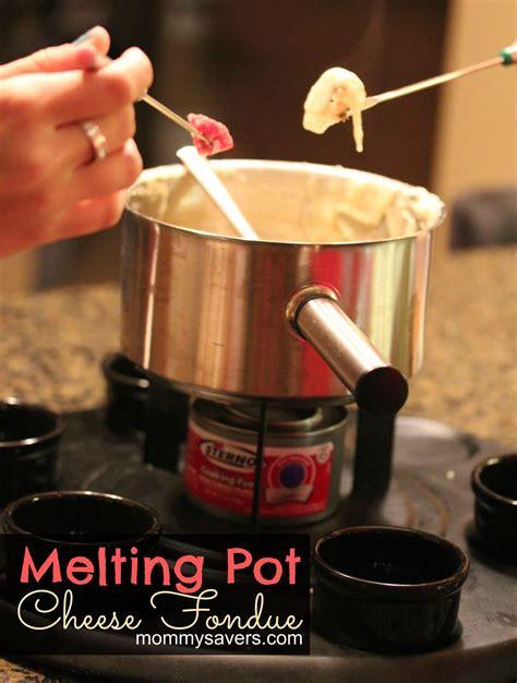 melting pot cheese fondue recipe mommysavers