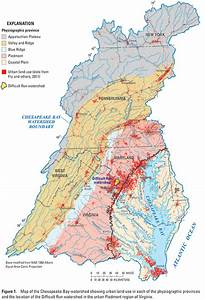 Map Of The Chesapeake Bay Watershed Showing Urban Land Use