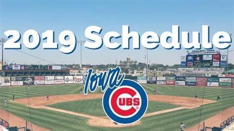 iowa cubs set  schedule cubs