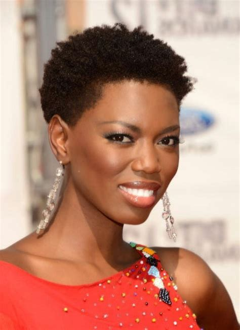 Very Very Short Natural Hairstyle For Black Women Very