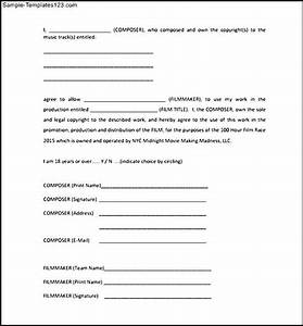 model of music release form sample templates sample With music video release form template