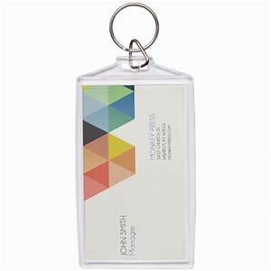 Wholesale acrylic snap in business card keychains neil for Keychain business cards